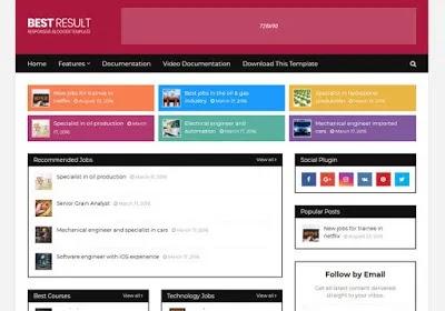 Free Blogger Templates For Job Websites