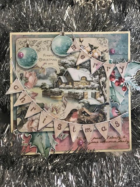 Kartka Świąteczna Zimowy Domek