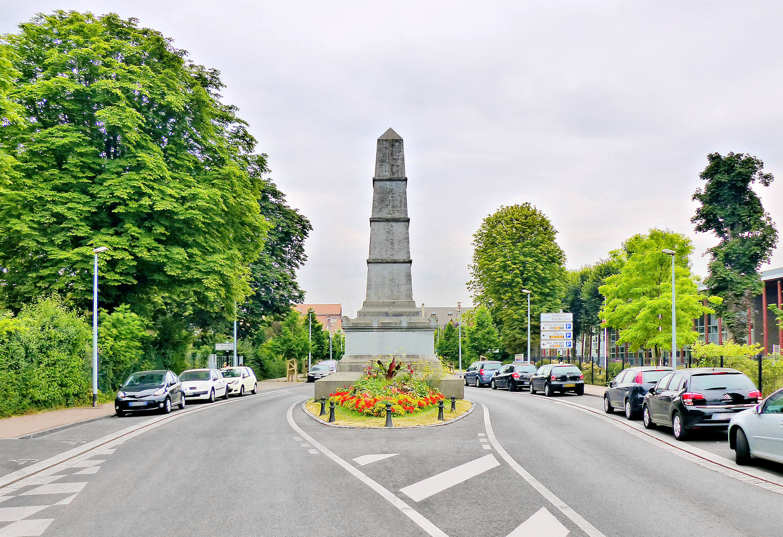 Bataille de Tourcoing de 1794 - Monument commémoratif, rue Millet, Tourcoing.