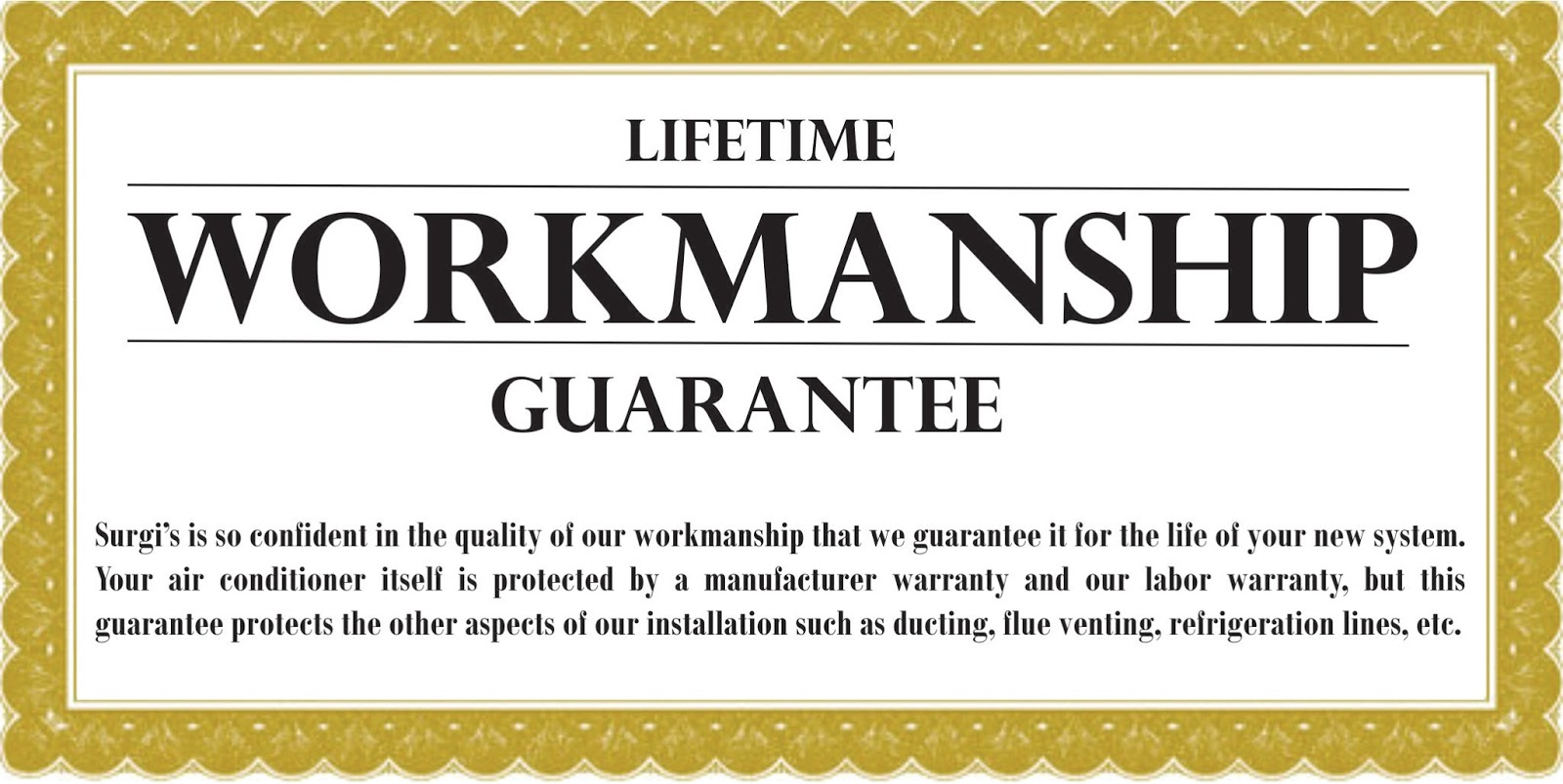 workmanship guarantee template new orleans air conditioning and heating surgi 39 s ac
