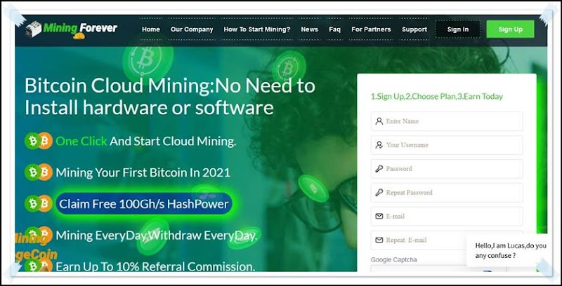 Мошеннический сайт mining-forever.com – Отзывы, развод, платит или лохотрон? Мошенники