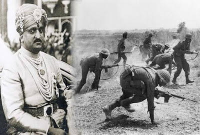 Pakistan waged war against the army of  Hari Singh the King of Jammu and Kashmir