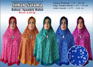 Jilbab spandek balon cantik motif bunga