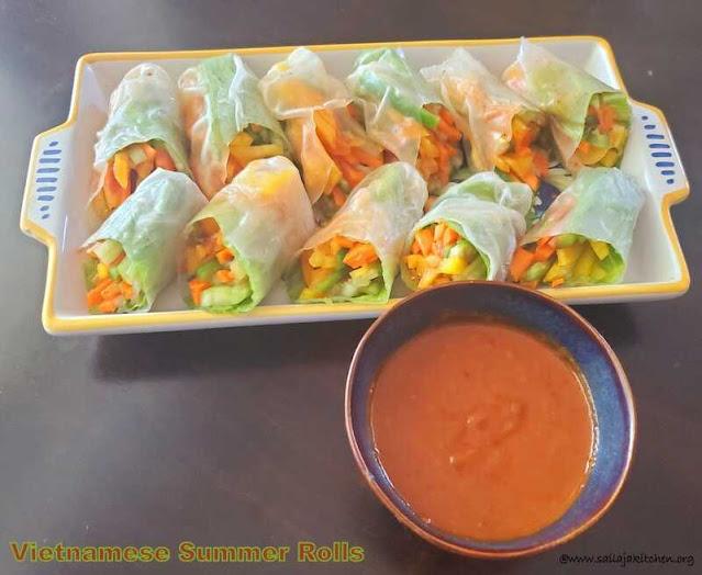 images of Vietnamese Summer Rolls / Vietnamese Fresh Spring Rolls / Summer Rolls / Vietnamese-Style Summer Rolls with Peanut Sauce