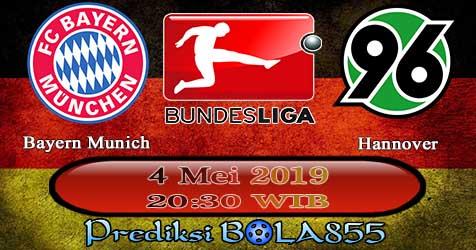 Prediksi Bola855 Bayern Munich vs Hannover 4 Mei 2019