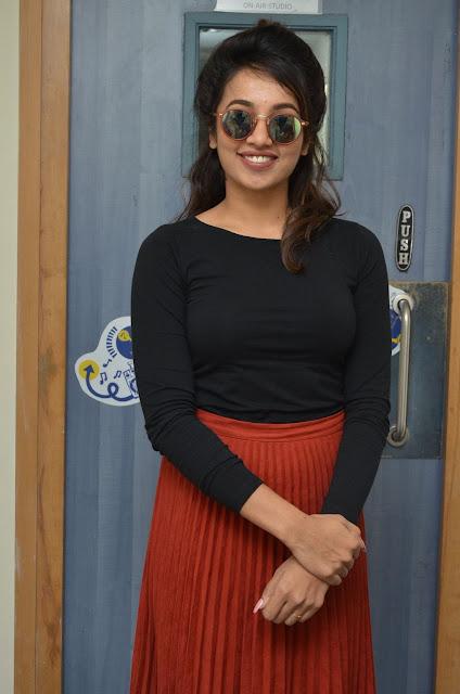 Tejaswini Actress At Babu Baga Busy Movie Song Launch Stiils