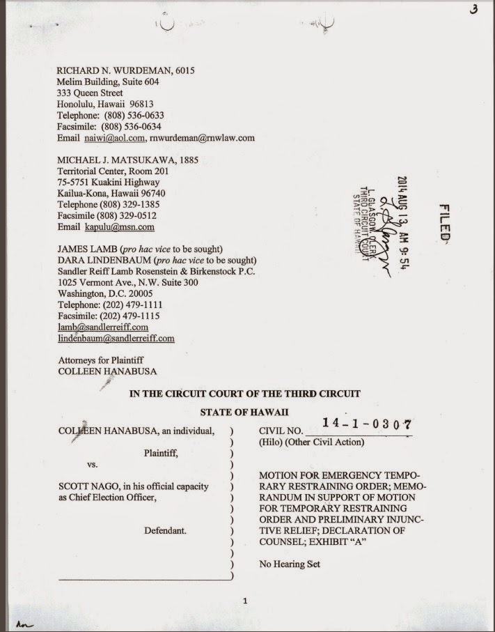 copy of front page of lawsuit