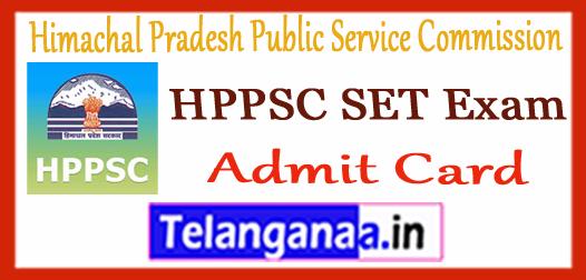 HPPSC SET Himachal Pradesh Public Service Commission  Admit card 2017-18