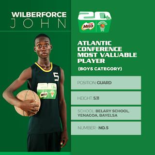 John Wilberforce - Nestle Milo Boys Championship MVP Winner