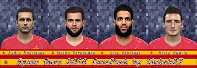 PES 2016 Spain Euro 2016 Facepack by Chiheb27
