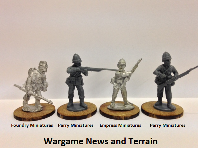 Perry Miniatures: Plastic British Zulu War Infantry Scale Comparison