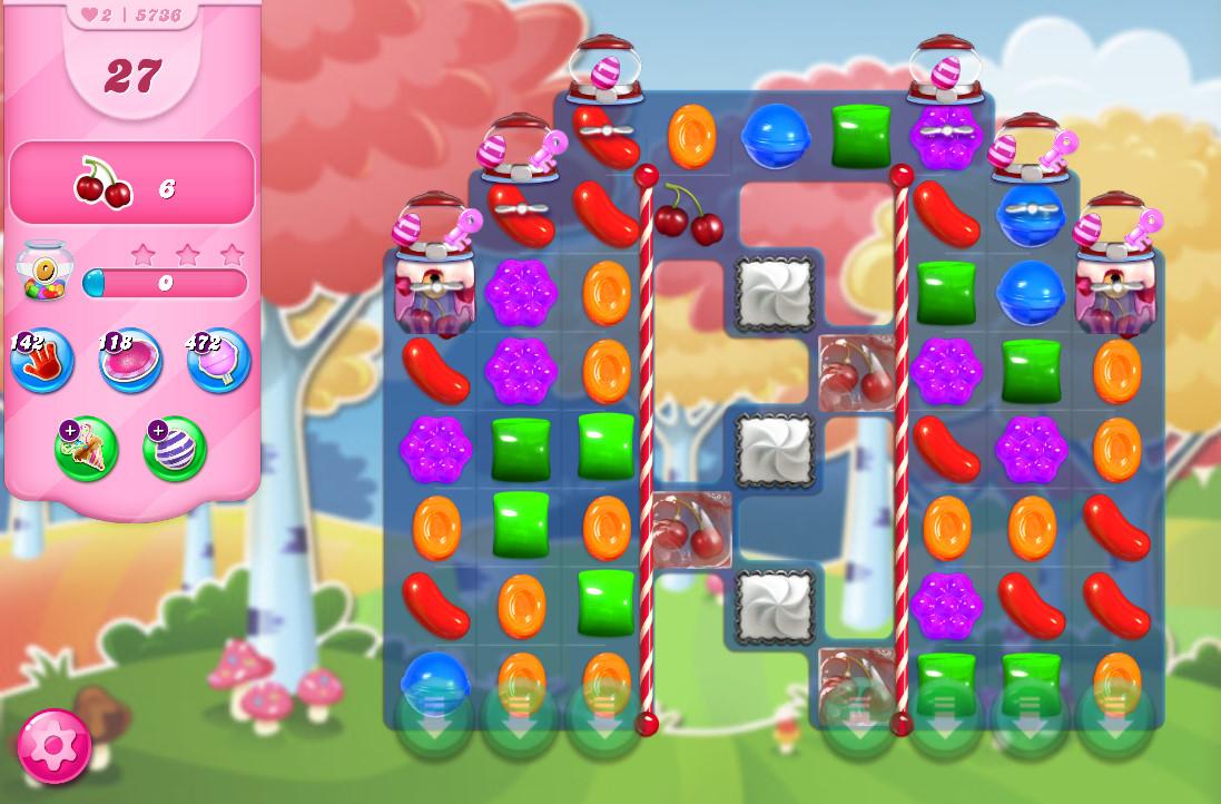 Candy Crush Saga level 5736