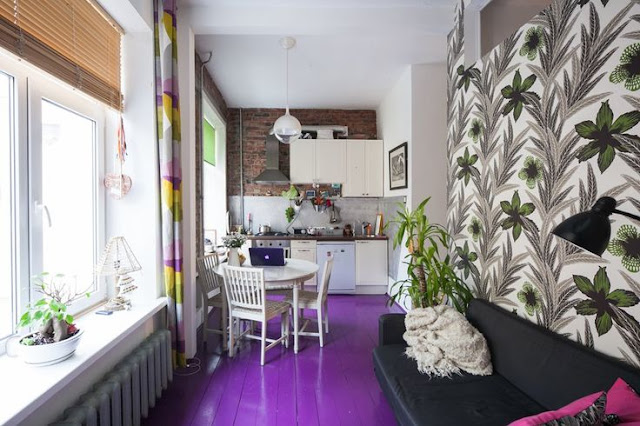 Ide Contoh Keramik Warna Ungu untuk Lantai