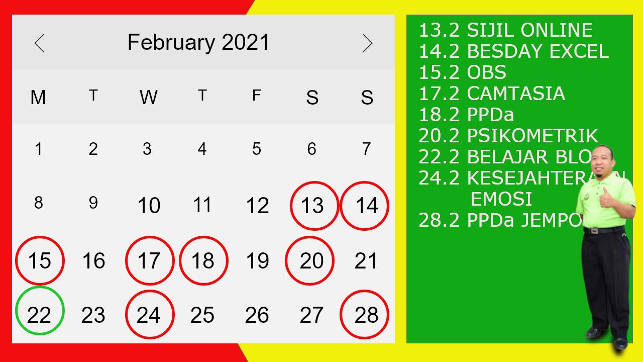 kalender CIKGU SHAM BERBAGI