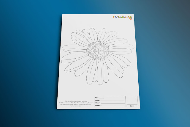Free Printable SunFlower Coloriage Outline Blank Coloring Page pdf For Girl Kids Kindergarten Preschool Toddler coloring sheets 1