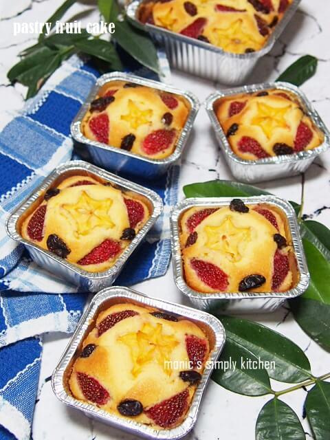 resep mudah pastry fruit cake
