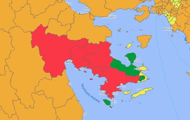 Παραμένει η Αργολίδα στο κόκκινο του επιδημιολογικού χάρτη