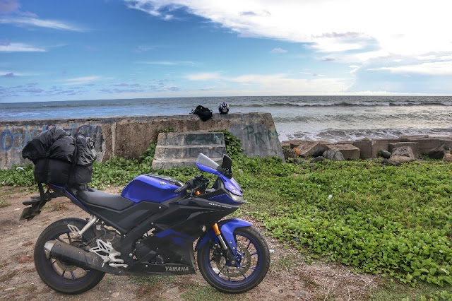 Foto Motor di Pantai Pandan Wangi Muko-Muko, Bengkulu