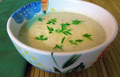Bowl of Vegan Cream of Celery soup