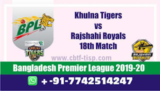 Who will win Today BPL T20, 18th Match Rajshahi vs Khulna - Cricfrog