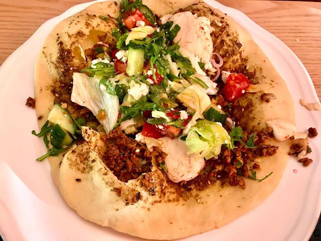 Lebanese Za'atar Man'ouche, Hashweh and Hummus