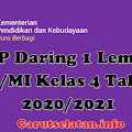 RPP Daring 1 Lembar SD/MI Kelas 4 Semester Ganjil & Genap Revisi 2020/2021