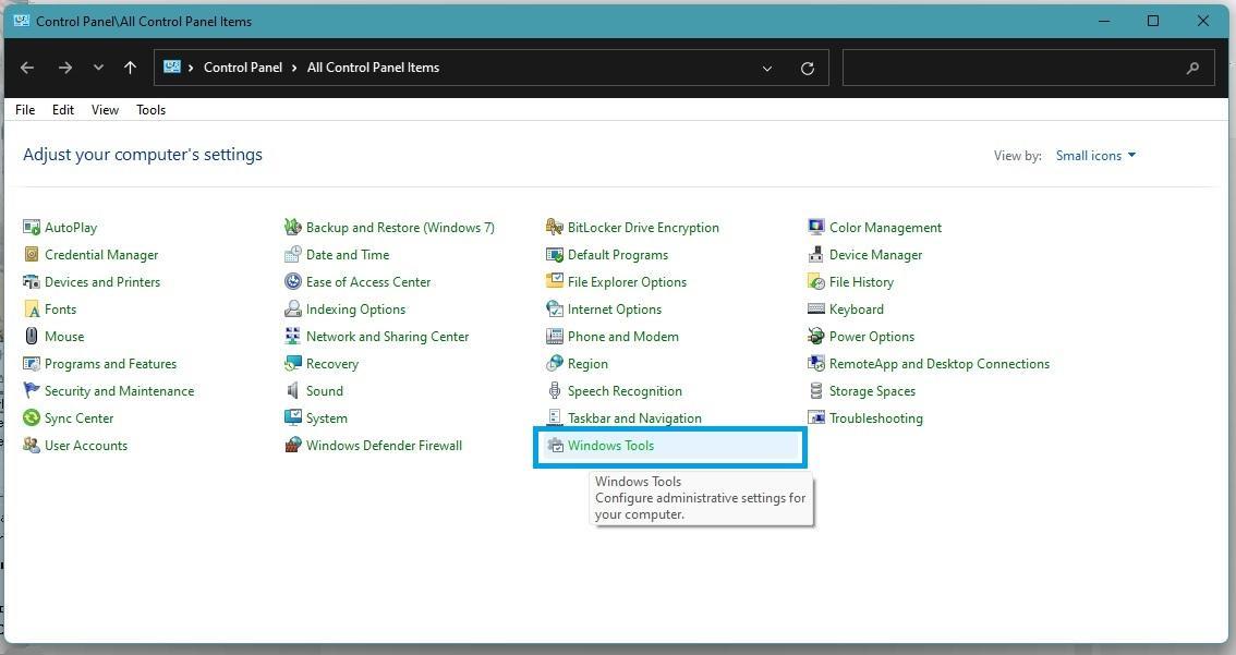 Windows 11 Control Panel All Control Panel Items