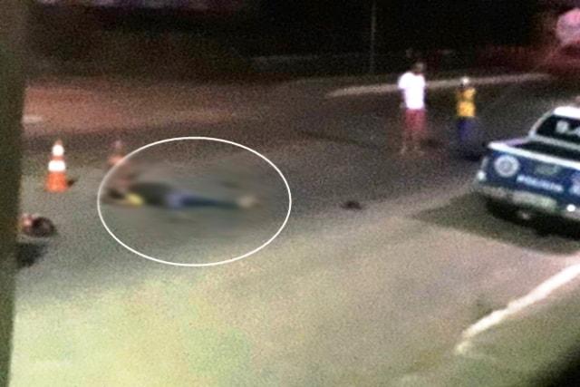 Chapada: Homem fica ferido após colidir moto contra viatura da Polícia Militar