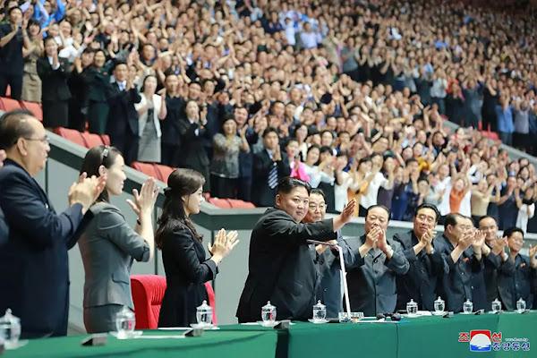 (2) Kim Jong Un at Grand mass gymnastics and artistic performance, June 3, 2019