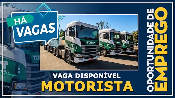 Transportadora Tora abre vagas para motorista carreteiro