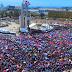 Manifestación en la Plaza de la Bandera se desarrollo con orden, higiene y seguridad