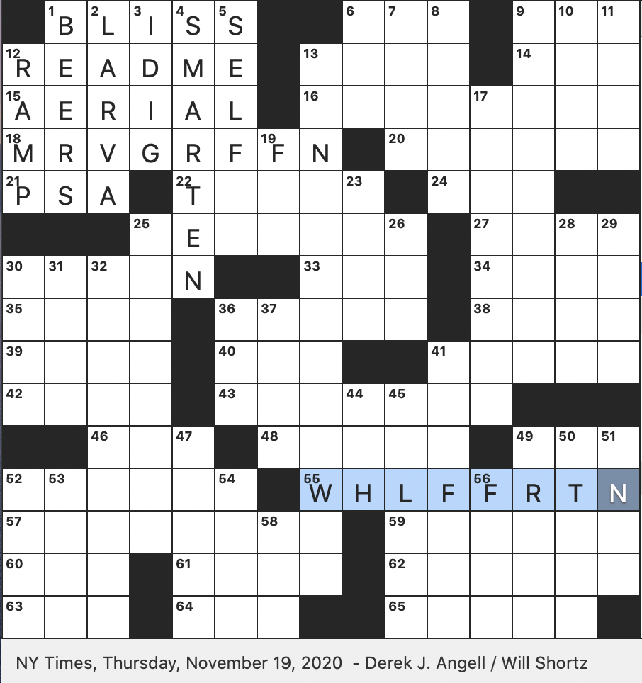 Rex Parker Does The Nyt Crossword Puzzle It Debuted On 1 6 1975 Thu 11 19 20 Peaceful Rustic Scene Long Running Tv Series Set In Las Vegas Ada Compliance Option Noted