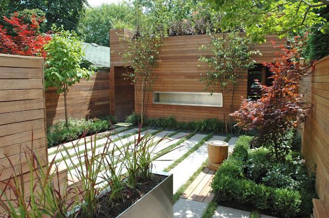 wood horizontally rather landscape gardening