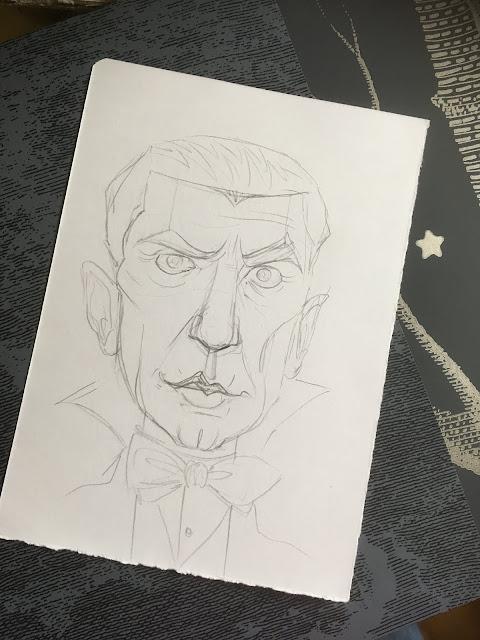 inktober 2019 vintage dracula sketch