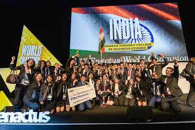 Team India which represented by students of Shaheed Sukhdev College of Business Studies Delhi, won the Enactus World Cup 2017.