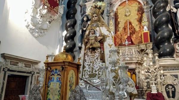 La Patrona de Cadiz visita las iglesias de Santa María y de Montañés desde hoy hasta el domingo