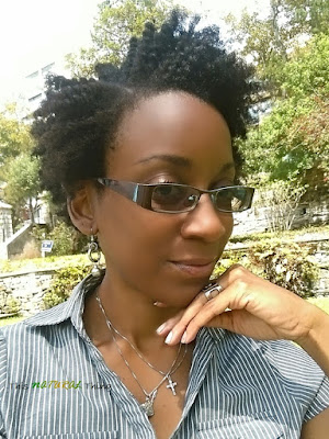 Twist Out on Short (TWA) Natural Hair | the result of a 2 week old Flat Twist 'protective' style.
