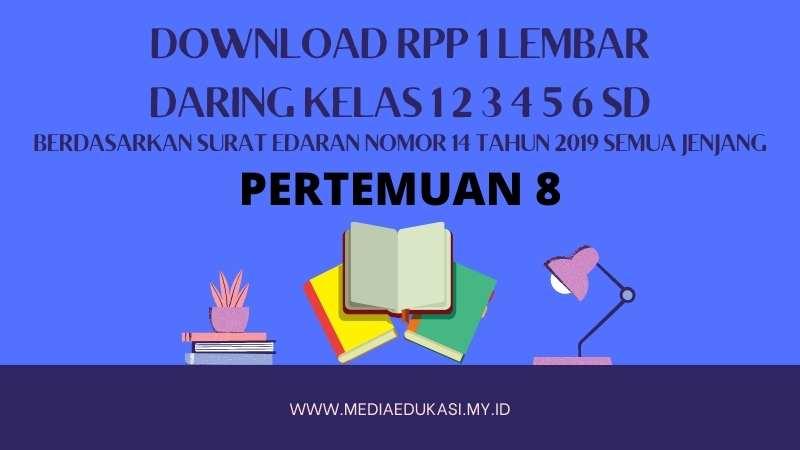 RPP 1 Lembar Daring Kelas 1 2 3 4 5 6 SD/MI Pertemuan 8 TA 2020-2021