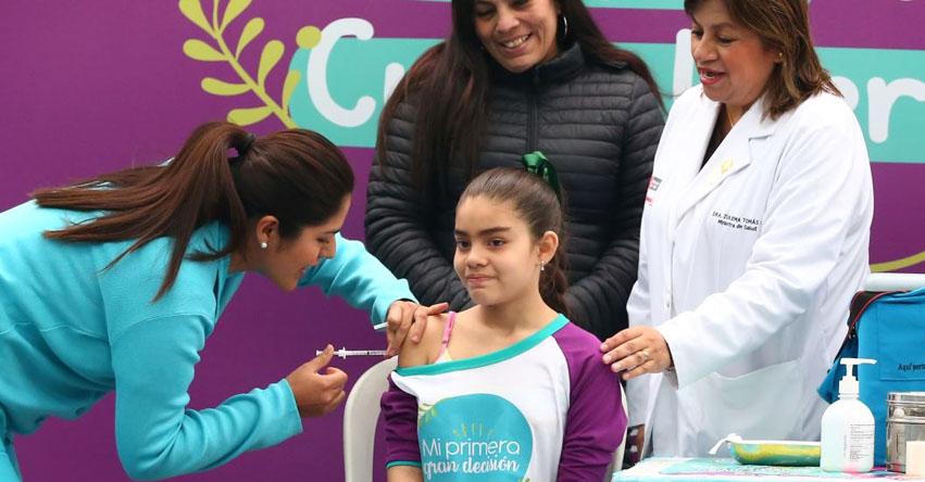 Se inició vacunación de segunda dosis para 230 mil escolares a nivel nacional