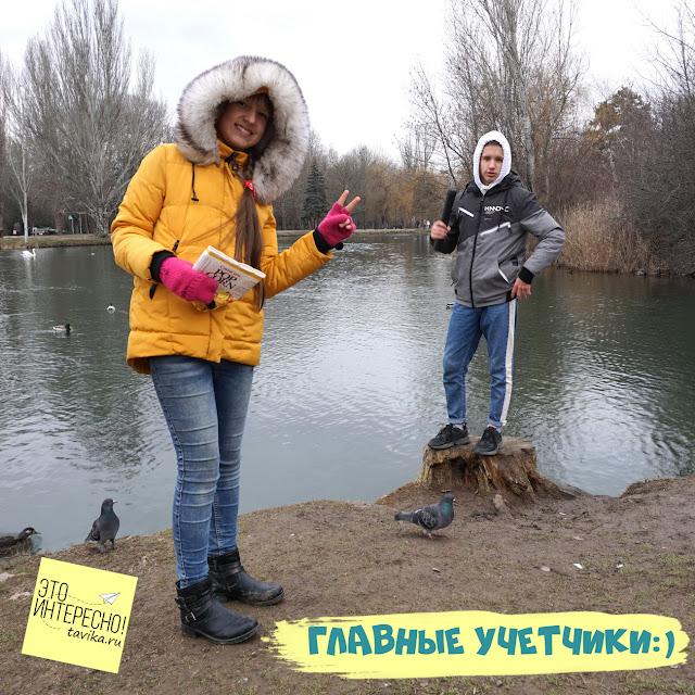 зимний учет птиц на озере