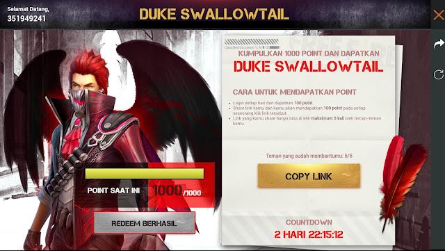 Kenapa Bundle Duke Swallowtail Rebel Sharing Sudah di Redem Tapi Tidak Ada