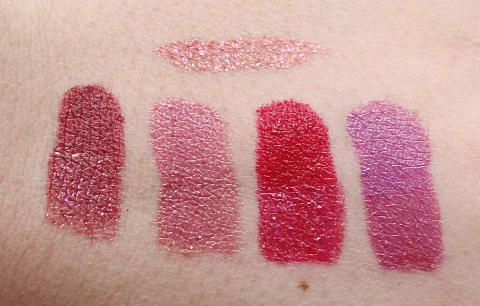 Urban Decay Vice Special Effects Topcoat Copycat swatches
