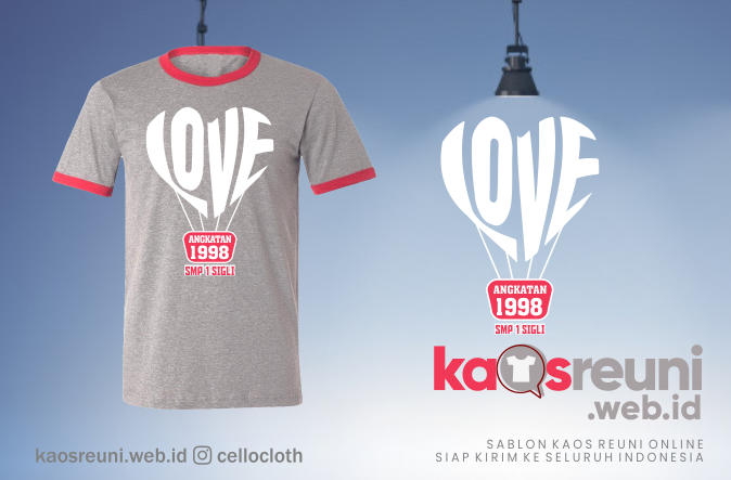 Contoh Kaos Reuni Angkatan 1998 With Love - Kaos Reuni