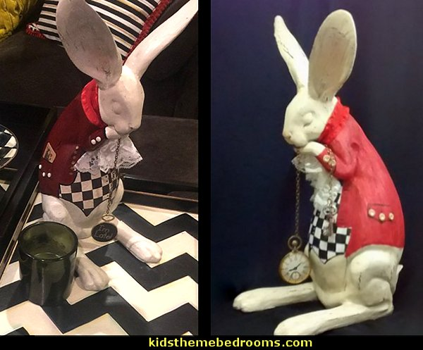 White Rabbit figurine  Alice in Wonderland inspired- Table Decoration -Tea Parties-Wedding receptions-Shower decor