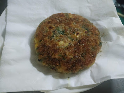 Pan grilled corn spinach patty for burger recipe