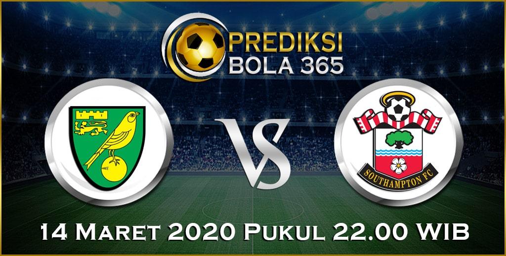 Prediksi Skor Bola Norwich vs Southampton 14 Maret 2020