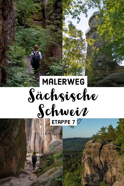 Malerweg Etappe 7 | Von Kurort Gohrisch bis Weißig | Wandern Sächsische Schweiz | Pfaffenstein – Festung Königstein 32