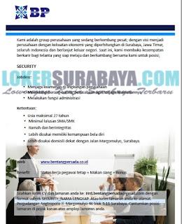 Karir Surabaya Terbaru di CV. Bentang Persada Group Juni 2019