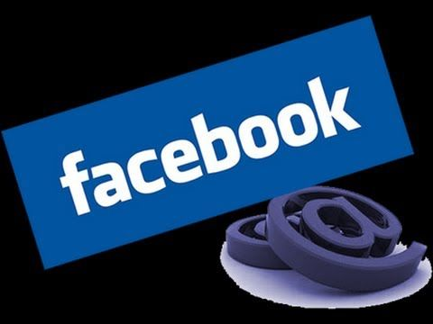 O e-mail @facebook.com é opcional