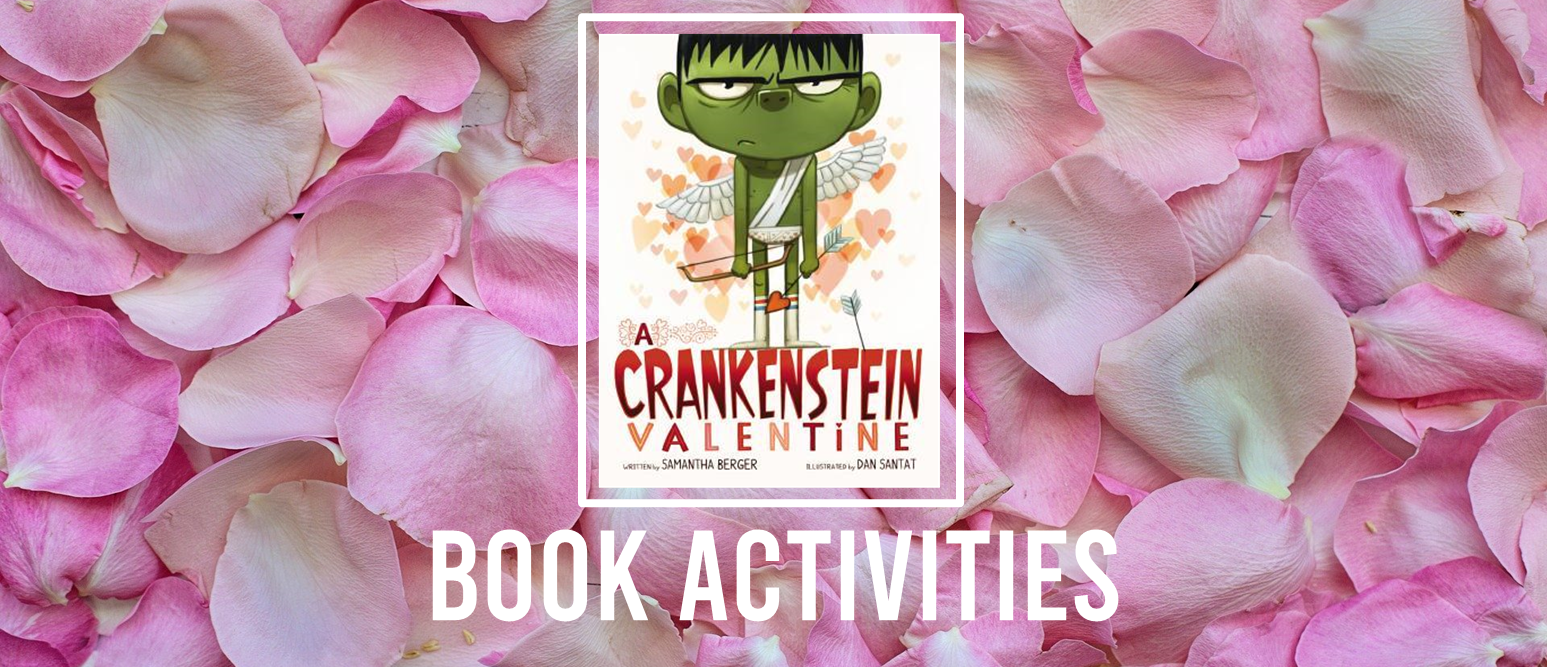 A Crankenstein Valentine book study activities unit with Common Core aligned literacy activities and craftivity for Kindergarten and First Grade